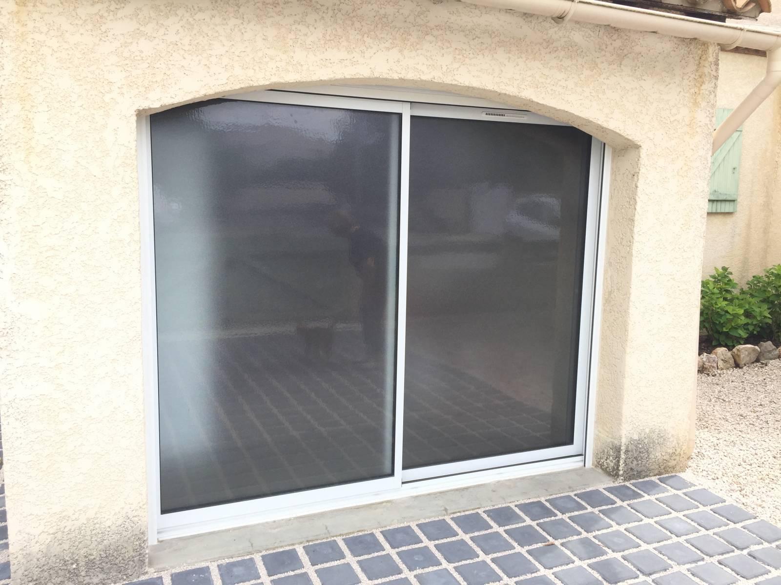 Remplacement d 39 une porte garage par une baie coulissante Remplacer porte de garage par baie vitree