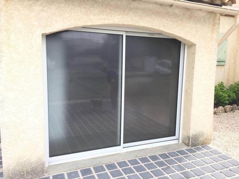 Fabricant de baie vitr e coulissante montpellier ligne - Remplacement d une porte de garage par une baie vitree ...